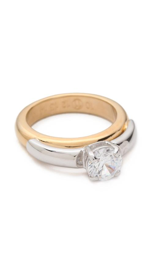 charlotte le bon maison martin margiela crystal ring from yves saint laurent thetake. Black Bedroom Furniture Sets. Home Design Ideas