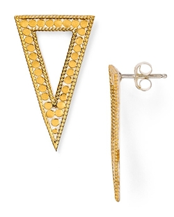 Triangle Drop Earrings by Anna Beck in Ballers