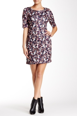 Steffe Elbow Sleeve Floral Shift Dress by CeCe by Cynthia in The Good Wife