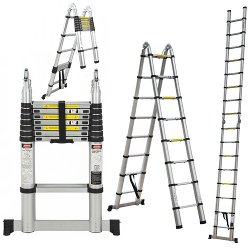 Aluminum Telescopic Collapsible Ladder by Best Choice Products in The Boy Next Door