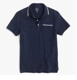 Textured Cotton Tipped Polo Shirt by J. Crew in New Girl
