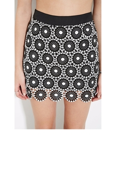Open Floral Crochet Mini Skirt by Forever 21 in Fuller House