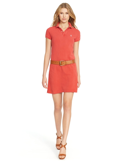 Mesh Polo Mini Dress by Ralph Lauren in Trainwreck