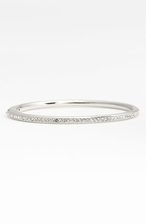 Channel Set Crystal Hinged Bangle Bracelet by Nadri in Grease