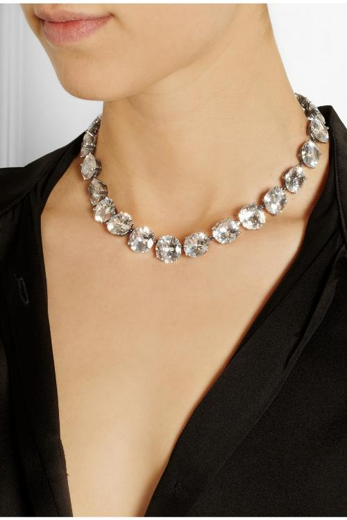 Cubic Zirconia Necklace by Bottega Veneta in Savages