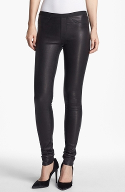 Lambskin Leather Leggings by Helmut Lang in Barely Lethal