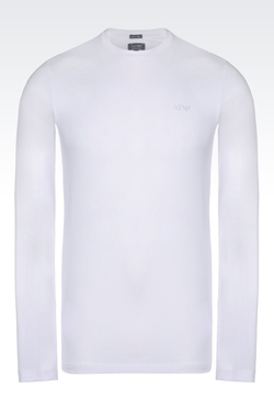 Stretch Cotton Jersey T-Shirt by Armani Jeans in Ex Machina