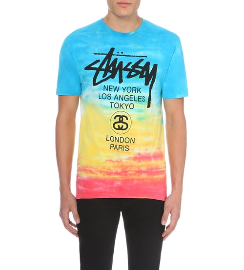 Tie Dye-Print Cotton-Jersey T-Shirt by Stussy in Black-ish - Season 2 Episode 8