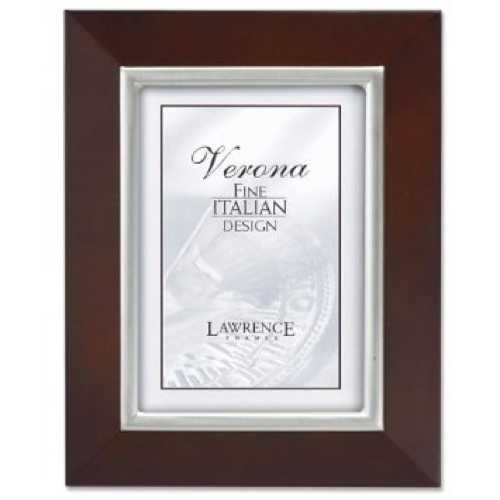 Walnut with Satin Silver Bezel Picture Frame by Lawrence Frames in Crazy, Stupid, Love.