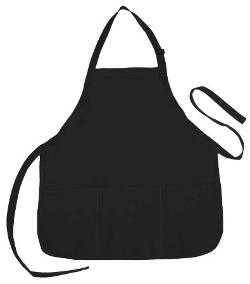 Apron Commercial Restaurant Home Bib Spun Poly Cotton Kitchen Aprons by DALIX in Unbroken