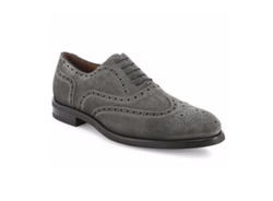 Suede Brouge Wingtip Shoes by Saks Fifth Avenue Collection in Suits