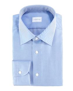 Diagonal Twill Dress Shirt by ERMENEGILDO ZEGNA in Million Dollar Arm