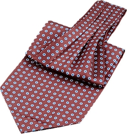 Circle-Print Twill Ascot by Barneys New York in Victor Frankenstein