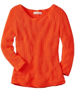 Open Crew Sweater by Hanna Andersson in Mean Girls