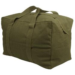 Parachute Cargo Duffel Bag by Rothco in Man of Steel