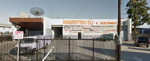 Maestro DJ & Electronics (Depicted as Electronic Store Robbery) Los Angeles, California in Drive