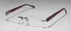 Titanium Black/Multicolor Optical Rimless Eyeglasses by Charmant in Southpaw