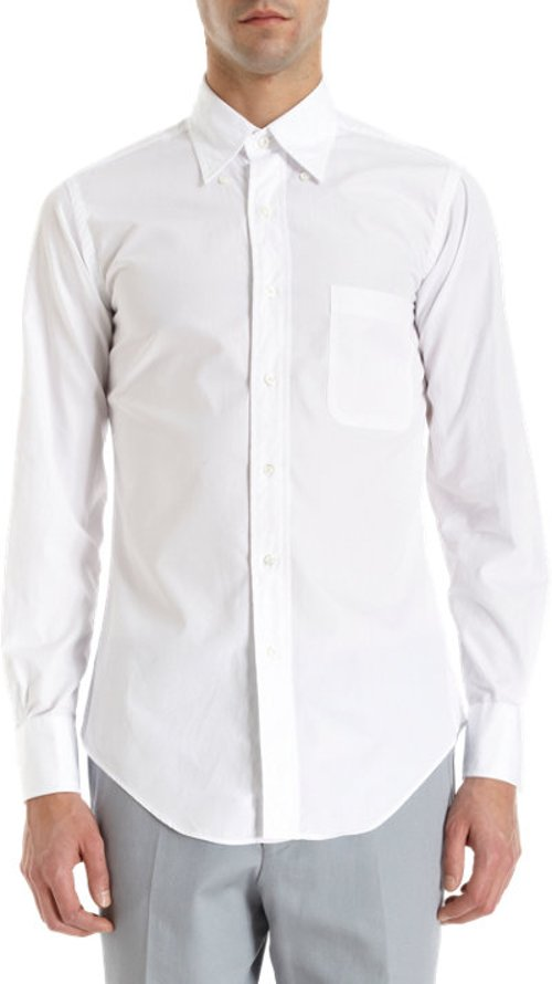 Poplin Dress Shirt by Thom Browne in Her