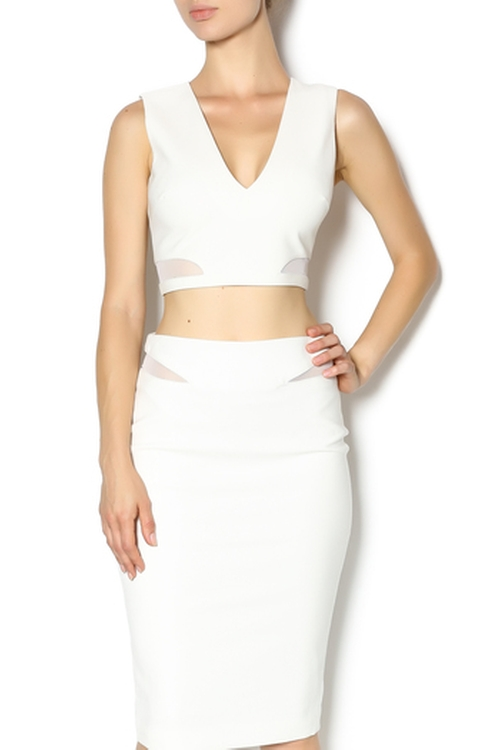 Ivory Crop Top by Elizabeth & James in Scream Queens - Season 1 Episode 5