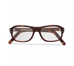Square-Frame Tortoiseshell Acetate Optical Glasses by Cutler And Gross in Kingsman: The Golden Circle