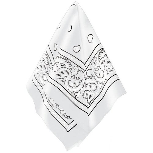 White Bandana by Amscan in Rock The Kasbah