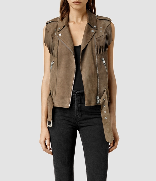 Western Tassel Gilet Vest by AllSaints in Pretty Little Liars - Season 6 Episode 18
