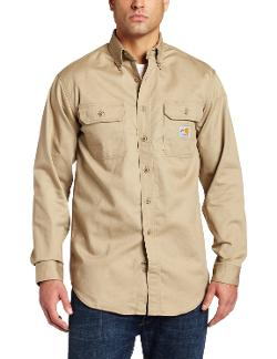 Men's Flame Resistant Classic Twill Shirt by Carhartt in Into the Storm