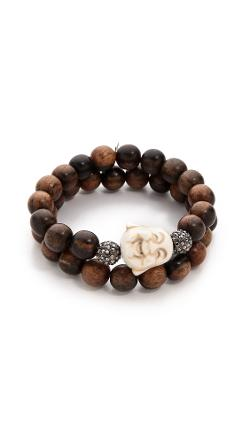 Wooden Buddha Bracelet Set by Hipchik Couture in Little Fockers