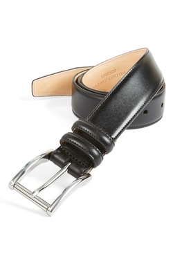 'Lorenzo' Leather Belt by Trafalgar in Arrow