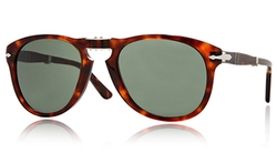 714 Steve Mcqueen 24/31 Havana Foldable Plastic Sunglasses by Persol in Billions