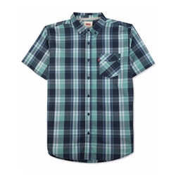 Tabbel Plaid Short-Sleeve Shirt by Levi's in Joshy