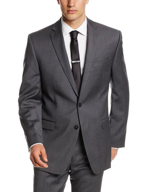 Men's Malik Slim Fit Suit by Calvin Klein in Blackhat