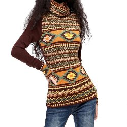 Women's Indian Two-sided Jacquard Turtleneck by Artka in Anchorman 2: The Legend Continues