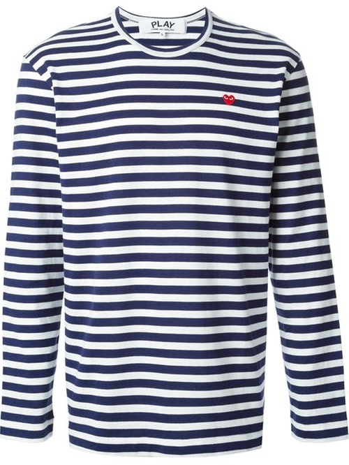 Striped T-Shirt by Comme Des Garçons Play in Wedding Crashers