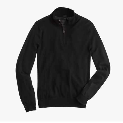Merino Wool Half-Zip Sweater by J.Crew in New Girl - Season 5 Episode 18