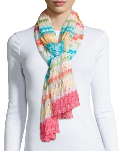 Striped Knit Zigzag Scarf by Missoni in Insidious: Chapter 3