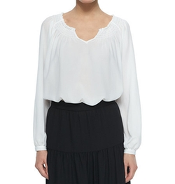 Long-Sleeve Peasant Blouse by Neiman Marcus in Billions