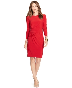 Jersey Crewneck Dress by Lauren Ralph Lauren in The Good Wife
