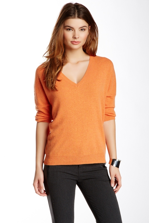 Cashmere Everyday V-Neck Sweater by Minnie Rose in Mean Girls