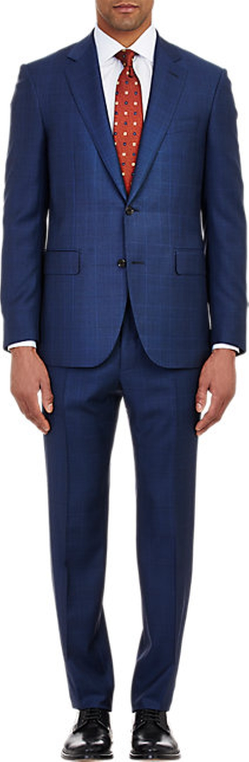 Two-Button Lotus Suit by Barneys New York in Suits - Season 5 Episode 4