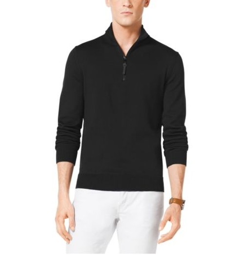 Half-Zip Cotton Pullover by Michael Kors in The Choice