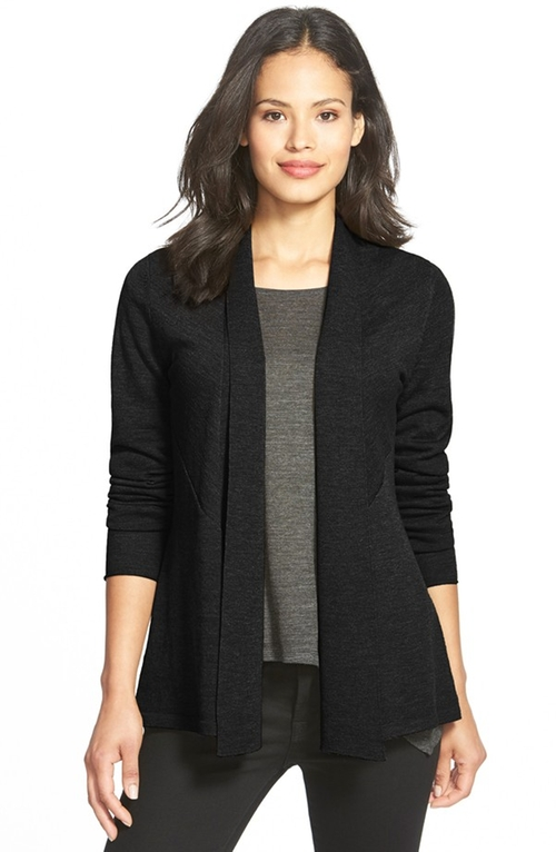 Wool Shaped Cardigan by Eileen Fisher in Our Brand Is Crisis