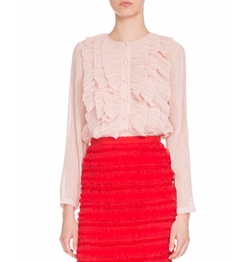 Crepe Ruffled Blouse by Givenchy in Empire