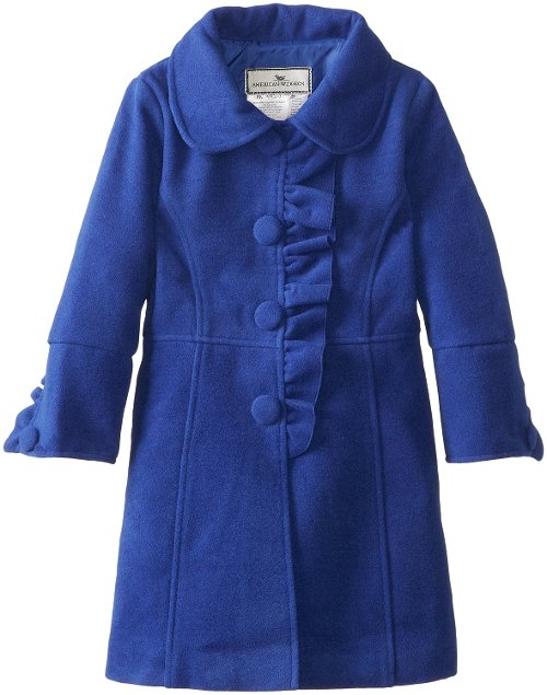 Little Girls' Ruffle Front Coat by Widgeon in (500) Days of Summer