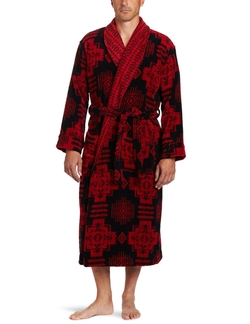 Men's Chief Joseph Terry Velore Bathrobe by Pendleton in Lucy