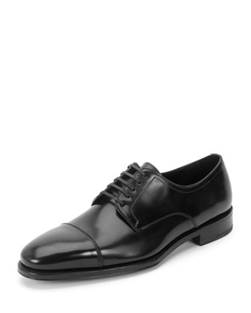 Lace-Up Cap-Toe Oxford Shoes by Salvatore Ferragamo in Suits