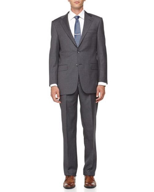 Two-Button Wool Suit by Hickey Freeman in Unfinished Business