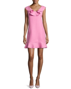 Ruffled Scoop-Neck Dress by Valentino in Scream Queens