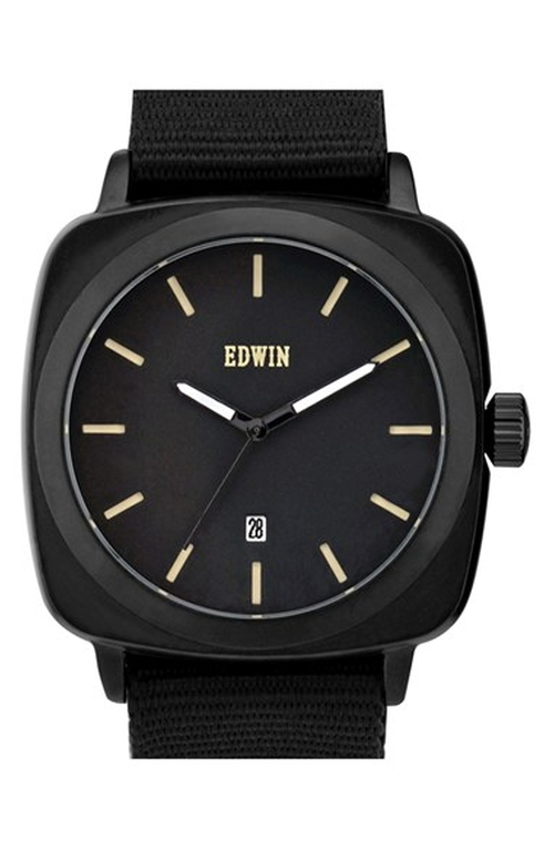'Julius' Woven Strap Watch by Edwin in Cabin in the Woods