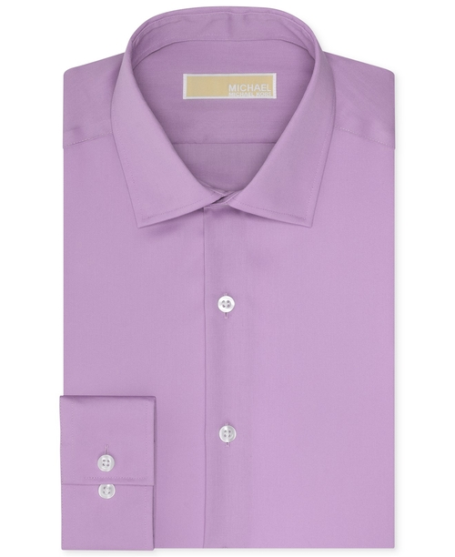 Slim-Fit Twill Solid Dress Shirt by Michael Michael Kors in Ballers - Season 1 Episode 1